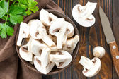 Funghi crudi — Foto Stock