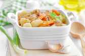 Meat with vegetables — Stock Photo