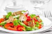 Vegetable salad with mushrooms — Stock Photo