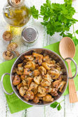 Fried mushrooms — Stock Photo