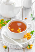 Herbal tea with hawthorn — Stock Photo