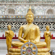 Golden Buddha ornament — Stock Photo