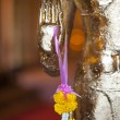 Golden Buddha hand — Stock Photo