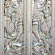 Stock Photo: Ornate mosaic temple doors