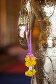 Golden Buddha hand — Stock Photo