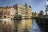 Canal in Amsterdam — Stock Photo