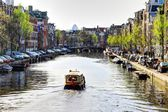 Canal in Amsterdam — Foto Stock