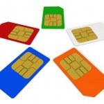SIM cards — Stock Photo #10736848