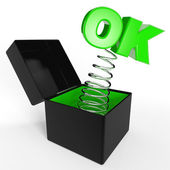 """OK"" in box — Stock Photo"