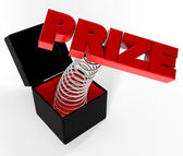 """PRIZE"" in box — Stock Photo"