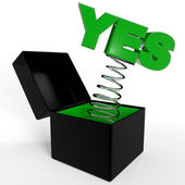"""YES"" in box — Stock Photo"