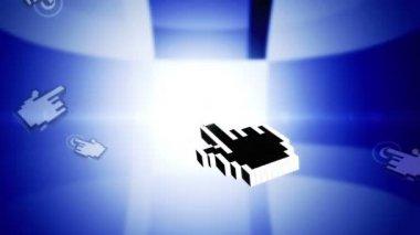 Animation cursor. Open window — Stock Video