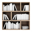 Bookshelves on white background — Stock Photo #29529717