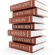 Stock Photo: Books bindings and Literature