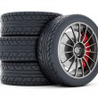 Stock Photo: Black sport wheels