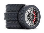 Black sport wheels — Stock Photo