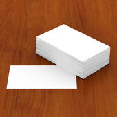 Business cards blank — Stock Photo