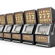 Slot machine, gamble machine — Stock Photo