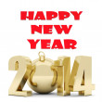 Happy new year 2014 Illustrations 3d — Stock Photo #35842893