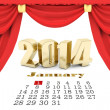 Happy new year 2014 Illustrations 3d — Stock Photo #35847825