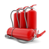 Red fire extinguisher — Stock Photo