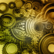 Closeup of steel gears meshing together — Stock Photo #13124605