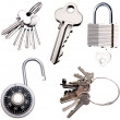 Stock Photo: Keys and locks