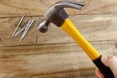 Hammering nail — Stock Photo