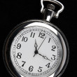 Foto Stock: Pocket watch on black background