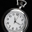 Stock Photo: Pocket watch on black background
