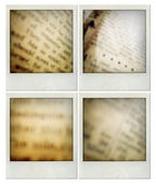 Closeup of assorted vintage grunge newspapers — Stock Photo