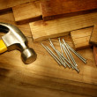 Hammer and nails - Stock Photo