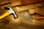 Hammer and nails — Stock Photo