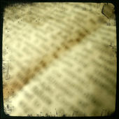 Blurred words on vintage newspaper — Stockfoto
