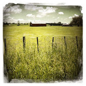 Barn in field — Stock Photo
