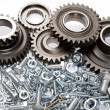 Gears and parts — Stock Photo
