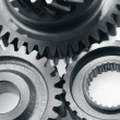Stock Photo: Three gears