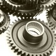 Stock Photo: Steel gears