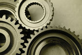 Steel gears — Stock Photo