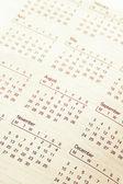 Stránka kalendář — Stock fotografie