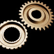 Stock Photo: Two cogwheels