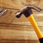 martillo y clavos — Foto de Stock
