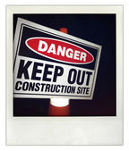 Construction sign — Stock Photo