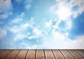 Deck and sky — Stock Photo