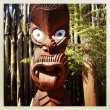 Stock Photo: Maori carving