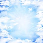 Bright sunny sky — Stock Photo
