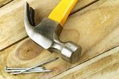 Hammer and nails — Stock Photo