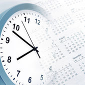 Clock and calendar — Stock Photo