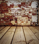 Floor and wall — Stockfoto