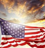 Americká vlajka — Stock fotografie